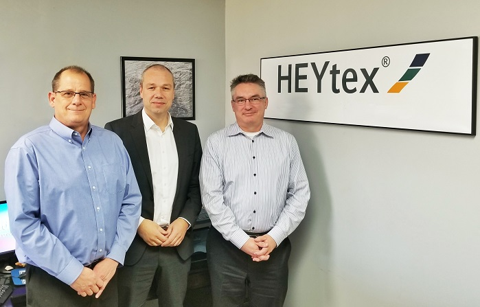 Ted Anderson, retired President, BondCote Corp; Dr Heribert Decher, CEO, Heytex Group; and Martin Denney, New President, BondCote Corp. © Heytex Group