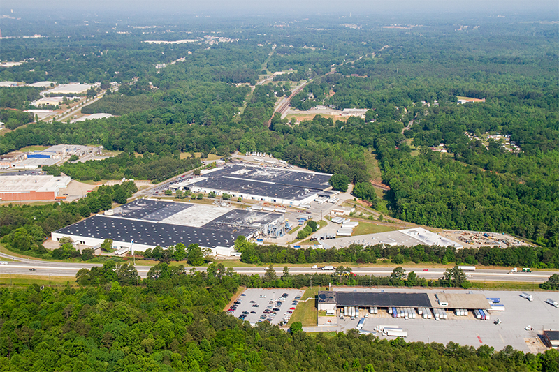 Leigh Fibers is headquartered in Wellford, between Greenville and Spartanburg. © Leigh Delaware Holdings
