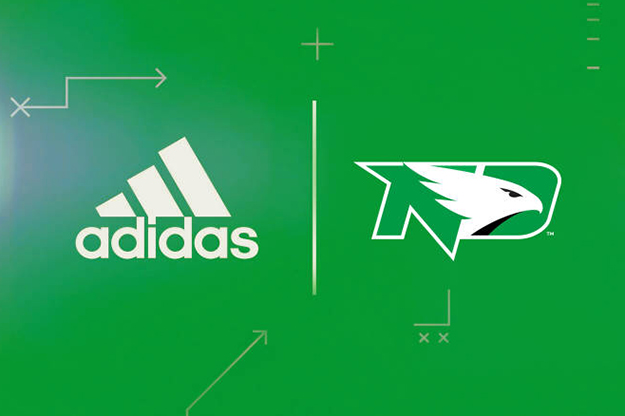 adidas will be the official athletic footwear, apparel and accessory brand of the Fighting Hawks through the 2024-25 season. © University of North Dakota/ adidas
