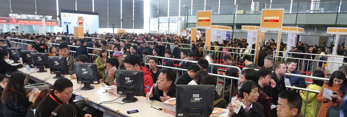 Organisers expect the show's 2018 global visitor registration and attendance to exceed last year's results. © Domotex asia/Chinafloor