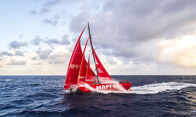 The team on board the Spanish boat MAPFRE have a clear goal to win the round-the-world Volvo Ocean Race trophy that is currently under way. The crew will be wearing Helly Hansen Merino base-layers. © Ugo Fonolla/MAPFRE/Volvo Ocean Race