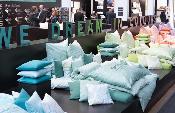 Heimtextil expanded its commitment to textile contract furnishing. © Messe Frankfurt/Heimtextil
