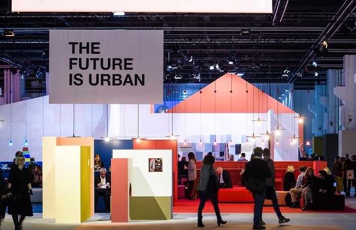 Under the title The Future is urban, international design experts visualised the megatrend of urbanisation. © Messe Frankfurt/Heimtextil