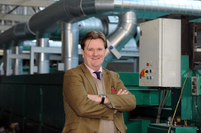 Baltex MD Charles Wood pictured at the company's factory in Basford. © Nottingham Post