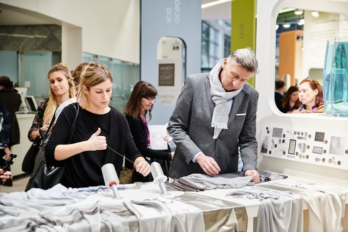 The show recorded continual rise in popularity among international buyers, designers and product managers. © Munich Fabric Start