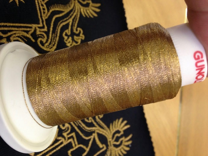 L14 Conductivity yarn with gold plasma coating for luxury garments – or best conductivity. . © Litrax