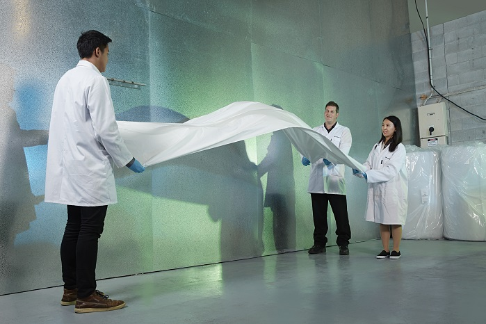 The company uses electrospinning technology to create nanofibre out of a range of materials. © Revolution Fibres