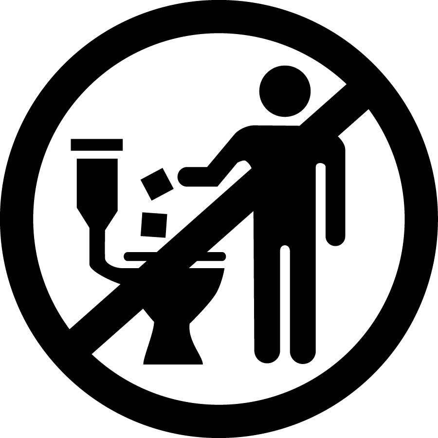 Do Not Flush symbol. © EDANA/INDA