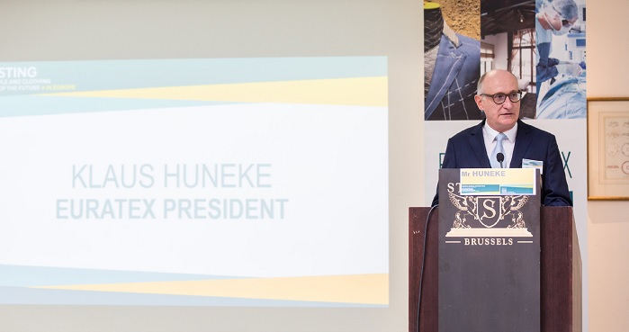 Euratex President Klaus Huneke opens the General Assembly. © Euratex
