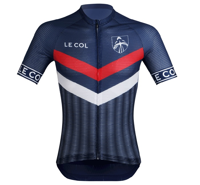 £1 of every purchase of the jersey from official retailer Aqua Blue Sport will go to Breast Cancer Care charity. © Le Col