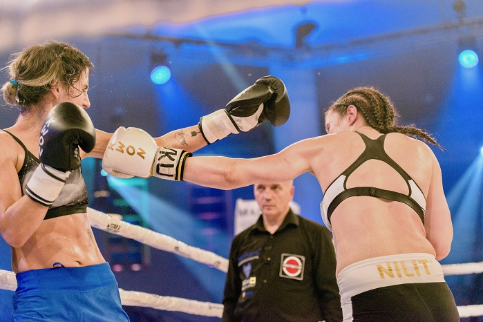 Nilit-sponsored athlete Marie Lang successfully defended her title for the thirteenth time. © Nilit