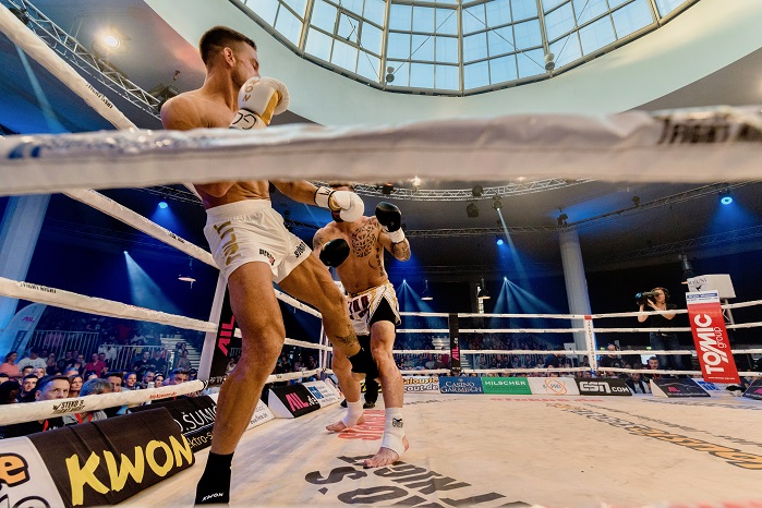 Sebastian Preuss won his first professional fighting crown in a fight lasting just three minutes. © Nilit