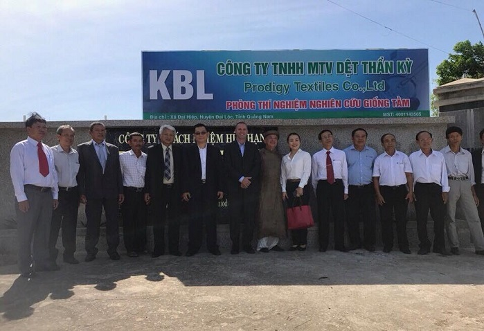 Kraig Biocraft Laboratories celebrated the grand opening of Prodigy Textiles new facility in Quang Nam province. © Kraig Biocraft Laboratories