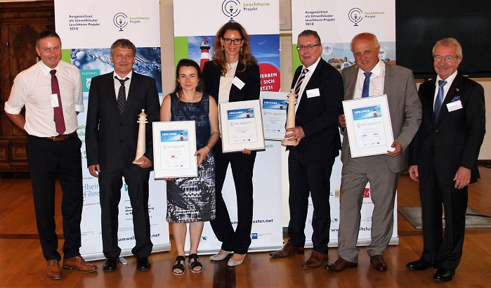 The Lighthouse award is presented annually by the Environmental Cluster of Bavaria to outstanding projects in the field of environmental technology. © Kelheim Fibres