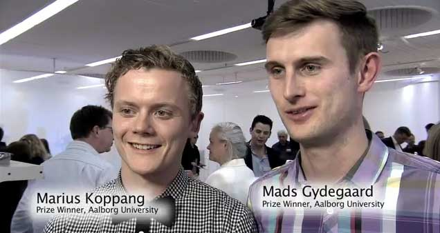 Marius Koppang and Mads Gydegaard from Aalborg University