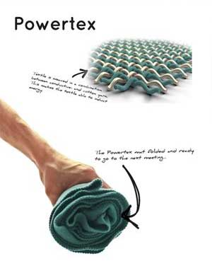 Students from Aalborg University have designed a smart fabric called Powertex which charges mobile phones