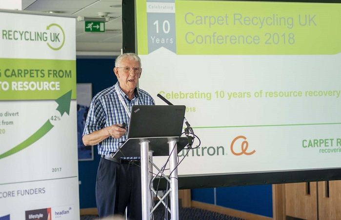 CRUK Director Laurance Bird. ©  Carpet Recycling UK