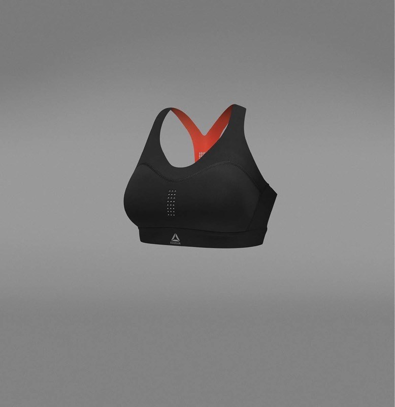 Reebok's PureMove Bra debuts brand's proprietary Motion Sense Technology, providing customised support and control. © Reebok