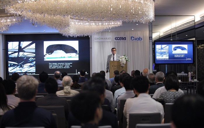 The 19 speakers from 13 countries presented the trends, innovations and opportunities for composites materials in the construction and architecture industry. © JEC Group