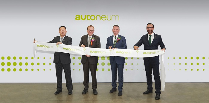 From left to right: Hank Shi (General Manager Pinghu), Martin Hirzel (CEO), Andreas Kolf (Head Business Group Asia) and Julien Latil (Head Operations North & East China). © Autoneum