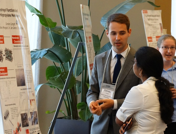 Highlights included a poster exhibition of 15 research projects from PhD students. © INDA