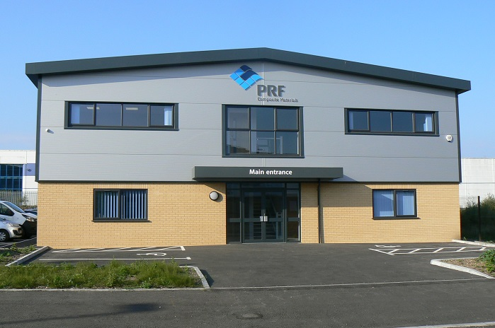 PRF's third facility: the new sales and warehousing facility. © PRF Composite Materials