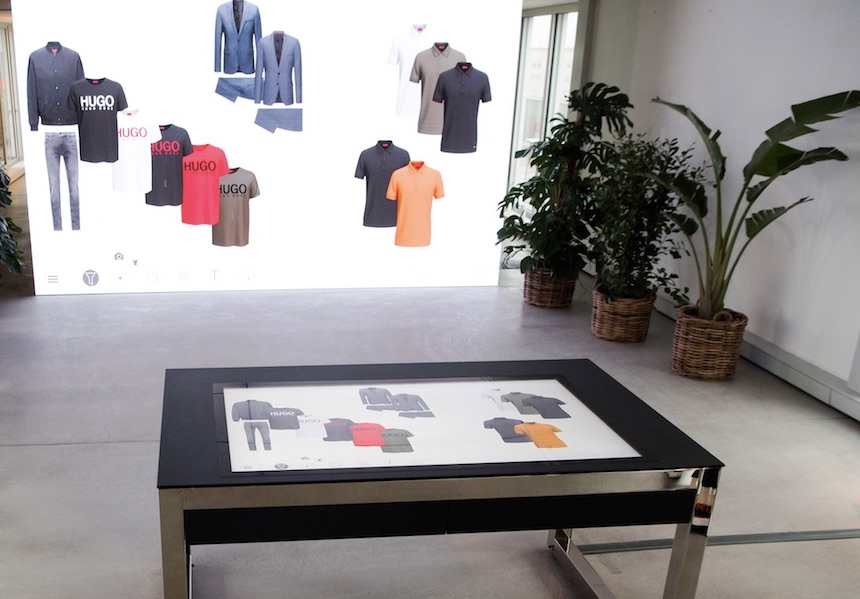 Hugo Boss digital showroom © Hugo Boss