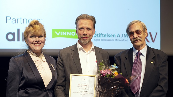 The award was handed out at the SKAPA innovation gala, in Stockholm. © Coloreel