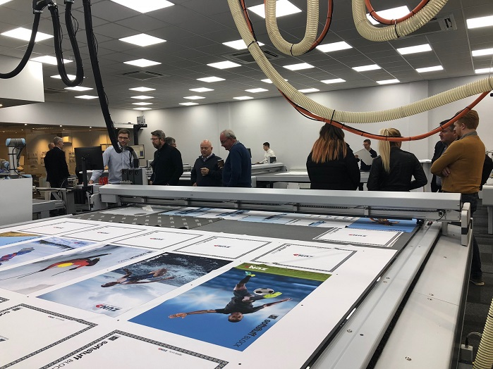 The event offered visitors the chance to learn how the flexible range of Zünd cutting systems could benefit their businesses. © Zünd UK