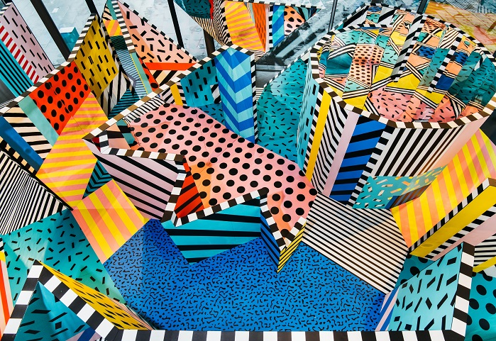 Pursue Play – Walala X Play by Camille Walala for Now Gallery, photography by Charles Emerson. © Heimtextil trend book