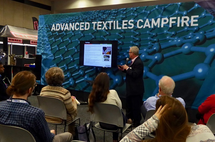 Jeff Rasmussen, Director of Market Research at IFAI presented an overview of the US market for advanced textiles/product (ATP). © Marie O'Mahony